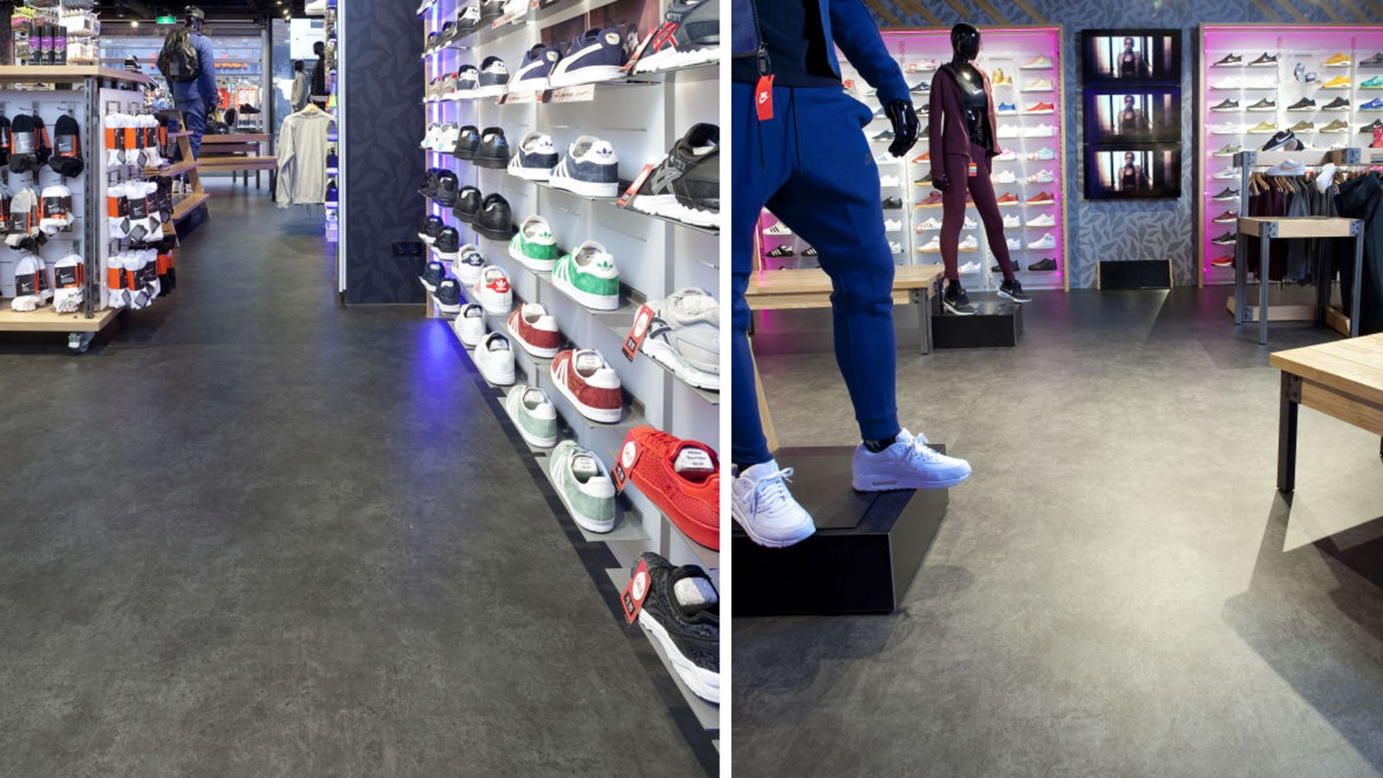 Forbo eternal material bij the athletes foot